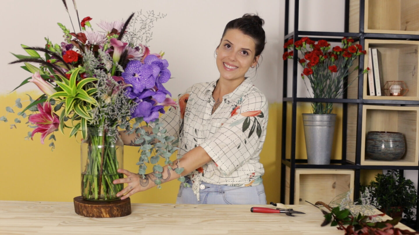 workshop online arranjo floral